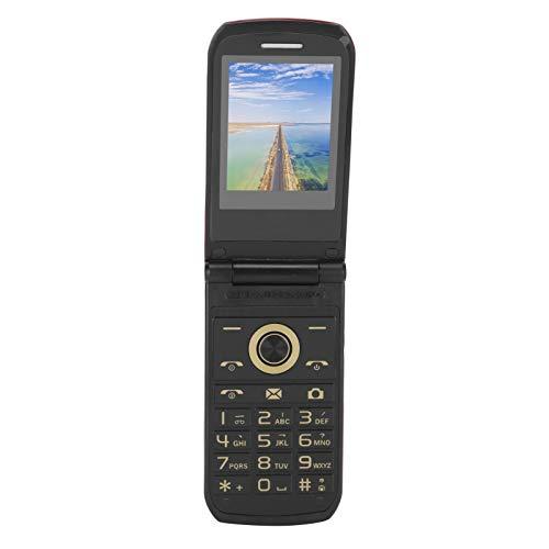 Teléfono Celular con Tapa para Ancianos, 2.4 Pulgadas 32MB + 32MB gsm, Doble Modo de Espera, Mini teléfono móvil con Tapa para Personas Mayores con función Bluetooth, batería Grande de 3800mAh(EU)