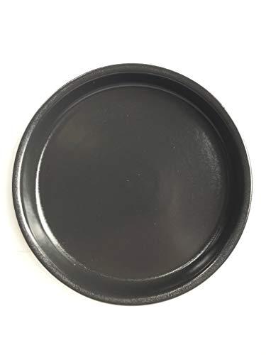 K&K Unterschale/Untersetzer rund für Blumentopf Venus II ohne und mit Henkel 28x20 cm - Ø 23 cm, anthrazit aus Steinzeug (hochwertige Keramik)
