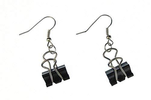 Miniblings Foldback Klammern Ohrringe Büro Klemme Fold back Architekt Uni - Handmade Modeschmuck I Ohrhänger Ohrschmuck versilbert