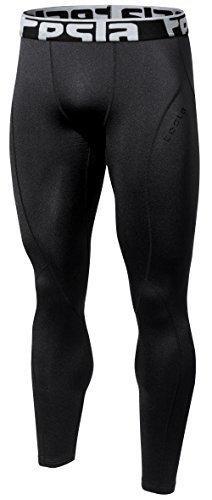 Tesla TM-YUP33-BLK_Small Men's Thermal Wintergear Compression Baselayer Pants Leggings Tights YUP33