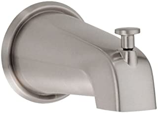 Danze D606425BN 8-Inch Wall Mount Tub Spout with Diverter, Brushed Nickel