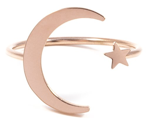Happiness Boutique Damas Anillo Luna Estrella Oro
