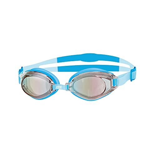 Zoggs Gafas de natación unisex Endura, color azul/plateado, talla única