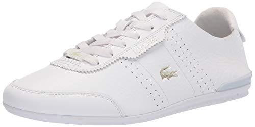 Lacoste womens Women's Oreno Sneaker, Wht/Wht, 7.5 US