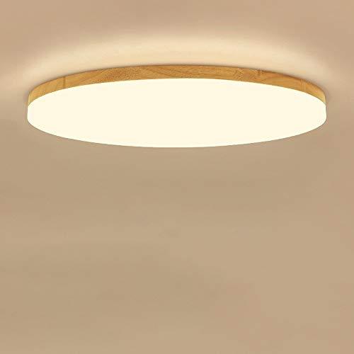 Precix 18W / 27W / 45W Holz Farbe Runde LED Deckenverkleidung-Licht Oberflächenmontage Moderne Ultra Slim Holzdeckenleuchte Haushalt Indoor Anti-Glare-LED-Beleuchtung for Halle Korridor Aisle-Dekor