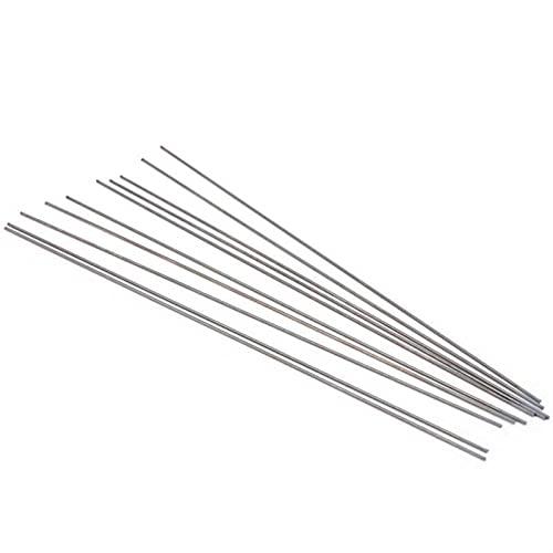 Varillas de soldadura 10 unids TIG electrodo de tungsteno WC20 agujas para accesorios de soldadura de arco de argón 1.0 x 175 mm herramienta de soldadura varillas de llenado