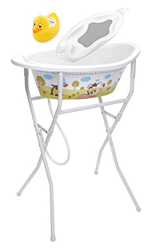 Rotho Babydesign 210540195BS Solution de Bain Style! Emmi Blanc Crème Multicolore
