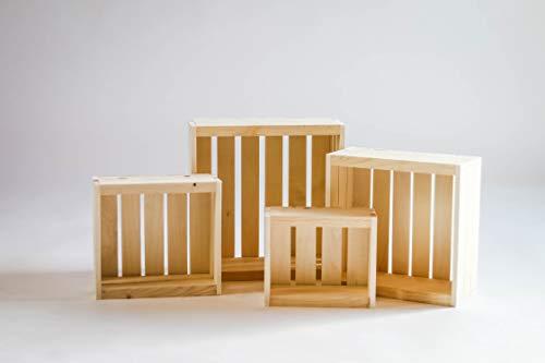 Darla'Studio 66 Natural Rustic Wood Crates- Set of 4