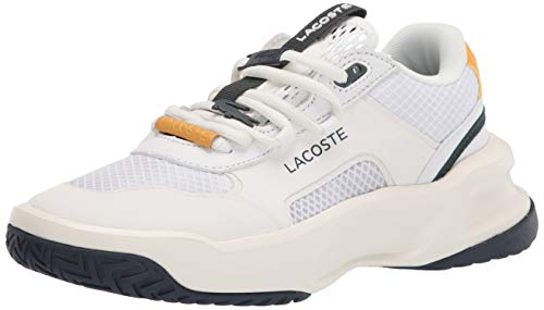 Lacoste Women's Ace Lift Fly Sneakers, WHT/NVY, 5