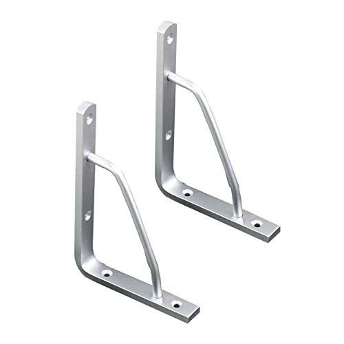 Heavy Duty Metal Shelf Bracket, Aluminum Alloy Industrial Shelf Brackets, Wall Mounted Floating Shelf Bracket Corner Brace, Includes Screws(175x135mm/6.9x5.3in)