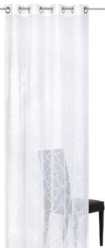 Elbersdrucke Crossover Voile 00 Fertigdekoration, Polyester, weiß, 255 x 140 cm