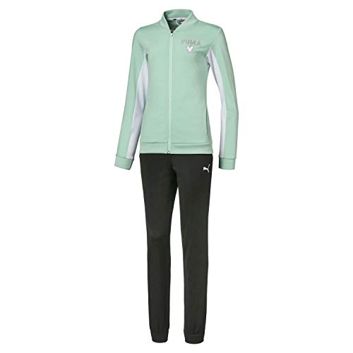 PUMA Unisex Kinder Poly Suit G Trainingsanzug, grün (Mist Green), 152
