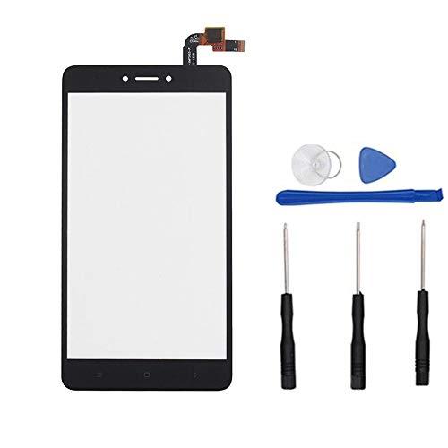soliocial Panel Pantalla Táctil digitalizador de Vidrio para Xiaomi Redmi Note 4X MBT6A5/Redmi Note 4 Global Version Snapdragon 625 (Not LCD) Negro