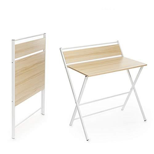 InnovaGoods Mesa Escritorio Plegable con Estante Tablezy, Mesa para PC, Madera, 84 x 97 x 60 cm