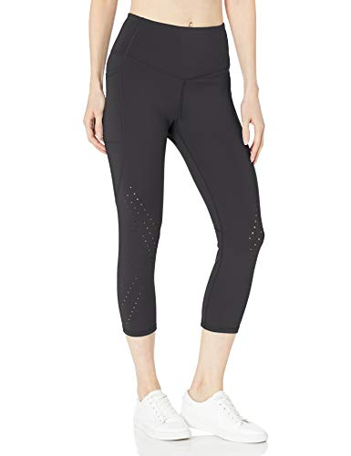 C9 Champion Women's Sculpt Lasercut Capri Legging, Ebony, L