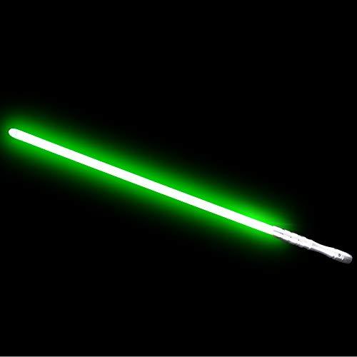 YDD LED Light Up Saber Force Lightsaber Heavy Dueling, Rechargeable Lightsaber, Loud Sound Hight Light with FOC, Metal Hilt Light Sword , Chrismas Toy Gift (Green)