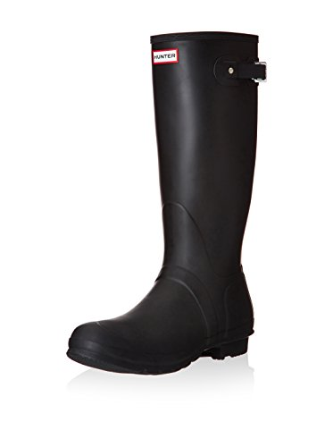HUNTER Women's Original Tall Rain Boot (10 M US, Black/Matt)