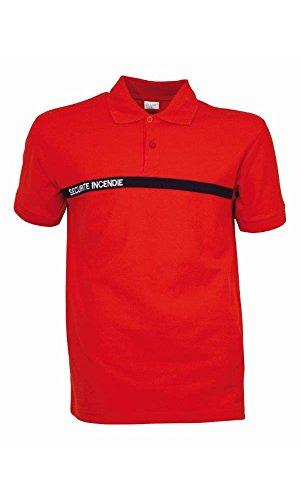 Polo Sécurité Incendie - CityGuard - Rouge - 4XL
