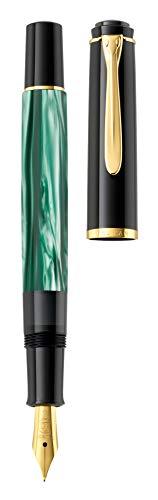 Pelikan Souverän M200 Fountain Pen, Medium Nib, Green Marble, 1 Each (994103)