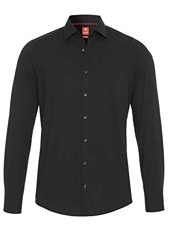 Pure Herren 3355-104 City Red Langarm Klassisches Hemd, schwarz, M