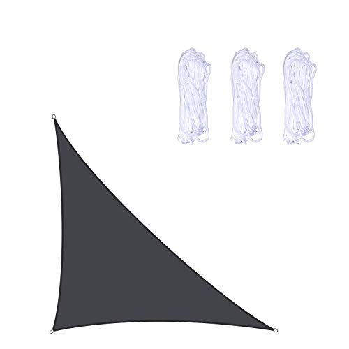 Sakilor Oxford Paño Shade Spade UV-Ray A Prueba de Agua Sombra a Prueba de Agua Ángulo Derecho Triángulo Jardín Piscina al Aire Libre Patio Terraza Camping Shade