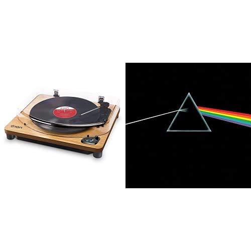 ION Audio Air LP WoodGiradischi Bluetooth a Tre Velocità con Software di Conversione USBFinitura in Legno Anticato & EMI MKTG Dark Side of the Moon (180 gr)