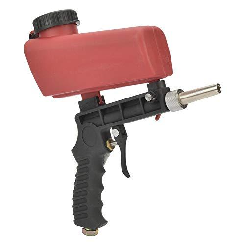 Tragbarer Mini Hand Trichter mit Schwerkraftzufuhr, pneumatischer Sandstrahlpistole mit 1/4-Zoll Lufteinlass