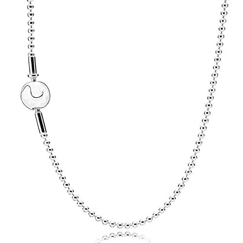 TTGE Beads & Pave Chunky Infinity Nudo Esfera Broche Essence Me Link Collar para Pandora 925 Cuentas de Plata esterlina Charm Joyería de Bricolaje