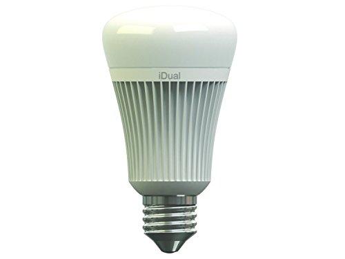 iDual JE0127081 A+, LED-Leuchtmittel in Kolbenform A ohne Fernbedienung, 1 Stück, Plastik, 11 W, E27, weiß, 6.80 x 6.80 x 11.9 cm