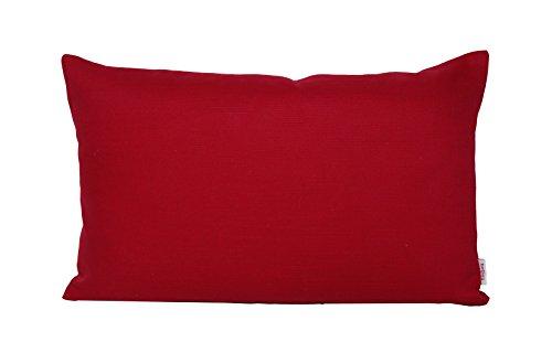 beties Farbenspiel Kissenhülle ca. 30x50 cm Baumwoll-Serie in Uni (Karmin-rot)