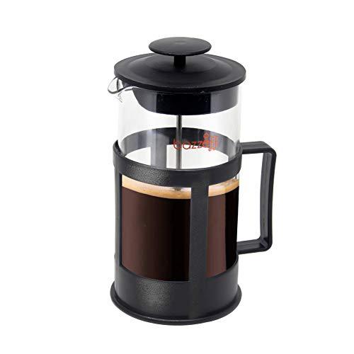 Bazzeff Prensa Francesa de Vidrio / Cafetera Francesa. Color Negro. Para Café o Tisana. Prensa Lefzo Disponible en 350 ml (1 taza) 750...
