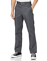CLASSIC WORKWEAR: This pant is designed with a fit that sits below waist & slim in seat and thigh with straight leg. It's made with a wrinkle-resistant poly/cotton fabric blend with a stain-release finish for enhanced durability. STURDY FUNCTIONALITY...
