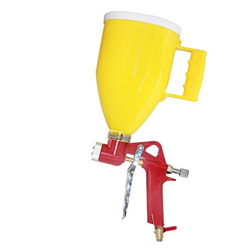 Joywayus Air Hopper Spray Gun with 4.0mm/6.0mm/8.0mm Nozzle Paint Texture Drywall Painting Sprayer, Yellow, 0.79 Gallon (3 L) Straight