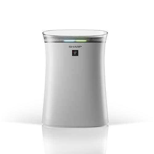 SHARP luchtreiniger, verbetering van de luchtkwaliteit, ideaal voor mensen met een allergie, filtersysteem met 3 niveaus Ruimtes tot 30 m2. wit