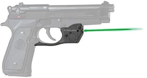 ArmaLaser Designed to fit TR20G Beretta 92 96 M9 92FS 96FS Green Laser Sight Grip Activation