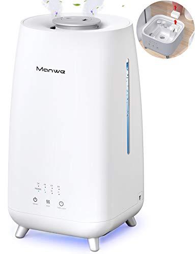 Manwe 3000 ML Humidificador de Aire para bebés,botón de Pantalla táctil,difusor de Aceite esencial3 Modos de Niebla,Boquillas Dobles de 360 Grados,LED de 7 Colores,Salida de Niebla 0-300mL / h