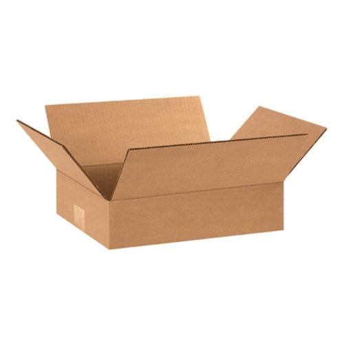 Aviditi 1283Flat Corrugated box, 30,5cm lunghezza x 20,3cm larghezza x 7,6cm altezza, Kraft (confezione da 25)