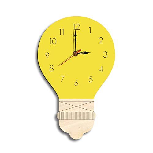 Orologio da parete in acrilico, design moderno, Acrilico Orologio Silenzioso Senza ticchettio semplicità Decorazione del Soggiorno Movimento Muto (Giallo )