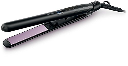 Philips Care & Control HP8340/00 Hair Straightener – Hair Straighteners (Black, Purple)