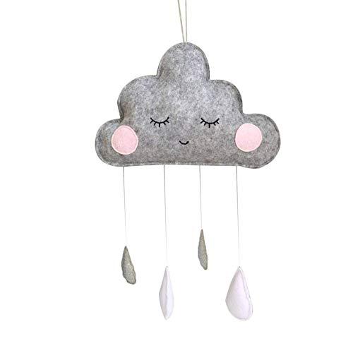 Ruiting Colgante de Nube de Agua caída Decoración de la Pared para Niños habitación Accesorios de Fotos Pared de Colgante del Ornamento de la Nube Blanco Gris
