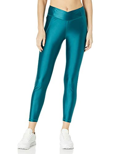 Reebok Damen Shiny High Rise Tight Eng, Heritage Teal, 4X26W
