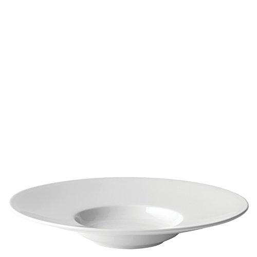 Utopia Anton Noir en porcelaine fine Z06004–000000-b01006 Mira Bord Large Assiette à soupe, 22,9 cm (lot de 6)