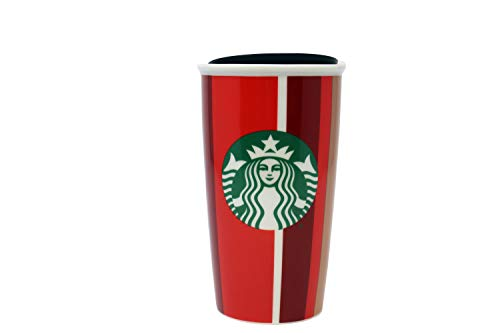 Starbucks 2018 Holiday Stripe Red Cup Double Wall Travel Tumbler 12 Oz