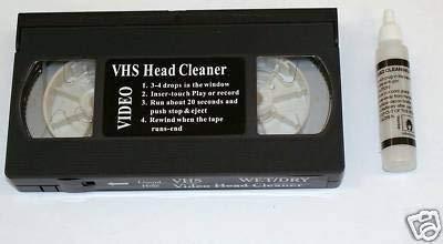 K1–Reinigungskassette für S/VHS-Videorecorder + Reinigungsflüssigkeit VHS/PAL/SECAM