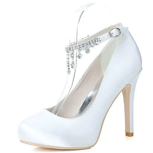 HLONGG Zapatos De Novia - Señoras Las Bombas De Satén, Bombas De...