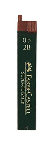 Faber-Castell 120502 - Feinmine Super Polymer, Härtegrad 2B, 0.5 mm, 12 Stück