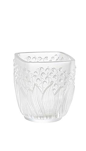 Lalique Vase Mughetto Clear Crystal
