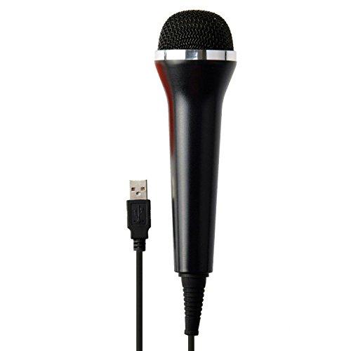 Teepao - Microfono USB per karaoke, universale, 3m, dispositivi audio per computer, PS4Pro Slim, PS3,Xbox One, S Xbox 360,Wii, Rock Band, Guitar Hero