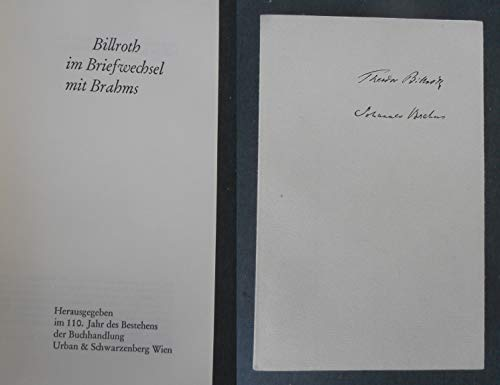 Billroth im Briefwechsel mit Brahms