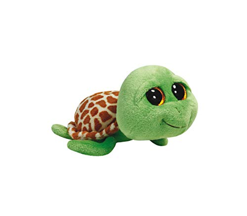 TY - Beanie Boos Zippy, peluche tortuga, 23 cm, color verde